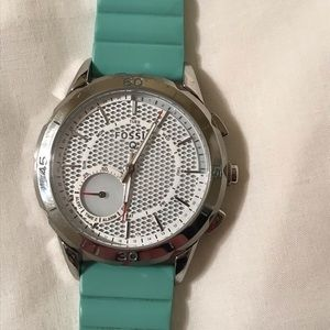 Fossil Q Hybrid Watch With Teal Silicone Band